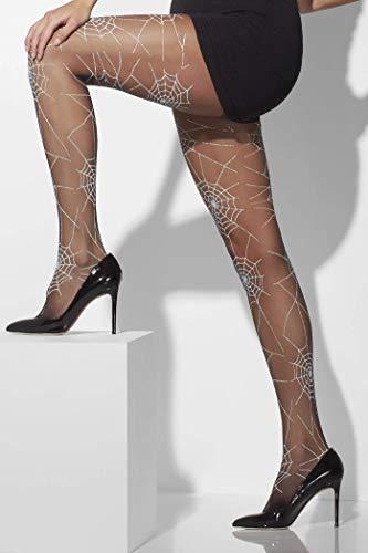 Smiffys Fever Damen Spinnennetz Strumpfhose, One Size, Schwarz, 42743 (Halloween Dress Up-ideen Für Damen)