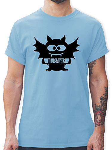 us - XL - Hellblau - L190 - Herren T-Shirt und Männer Tshirt ()