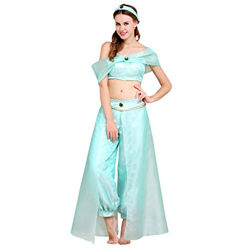 Cosplayitem Damen Organza Kostüm Bauch Tanz Kleid Set Tops Hosen Prinzessin Kleid Kleine Plus Größe (Kostüme Maid Custom)