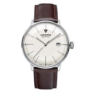 Reloj Junkers Bauhaus 60705 de cuarzo para hombre, correa de cuero color marrón de Junkers