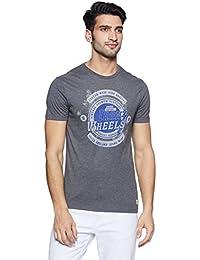 Peter England Men's Solid Slim Fit T-Shirt