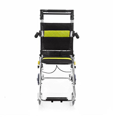 G&M Beweglicher Rollstuhl Aluminiumlegierung Älterer faltender Handpush-Kinder-Spielraum-Flugzeug-Rollstuhl , black
