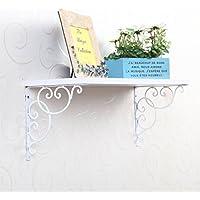 Tinksky Una coppia di REGGIMENSOLE per Bookrack Calpboard - parete montato stile floreale (bianco)