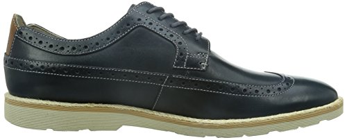 Clarks Gambeson Limit, Chaussures de ville homme Bleu (Dark Blue Lea)
