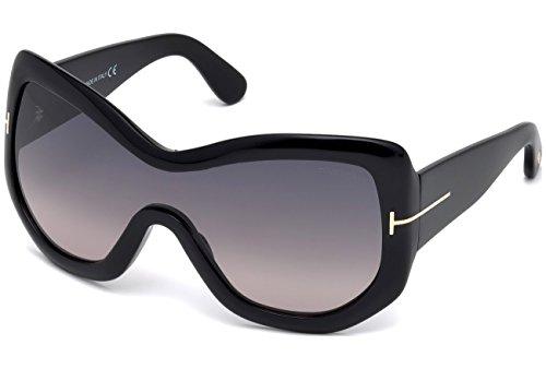 Tom Ford - LEXI FT 0456, Weitere Brillenformen, Acetat, Damenbrillen, BLACK/SMOKE SHADED(01B)