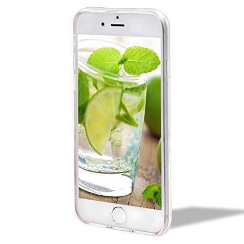 Cover Custodia per iPhone 6/6S,Girlyard [Crown Liquid] 3D Lusso Bling Colorate Corona Flusso Liquido Acqua Sabbie Water Stella Quicksand per Apple iPhone 6S/6 4.7 Brillantini Glitter Protettiva Custo Limone Bianco