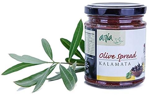 ARISTOS vegane Tapenade Olivenpaste Olivencreme Brotaufstrich aus Kalamata Oliven Griechenland (1x 190g)
