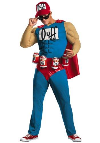Disguise 198618 The Simpsons - Duffman Klassisches Muskel Kost-m - Blau - plus - 50-52 (Duffman Simpsons Kostüm)