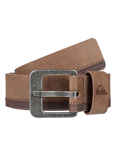 Quiksilver Binge - Faux Leather Belt - Kunstleder Gürtel - Männer - M-34 - Grau
