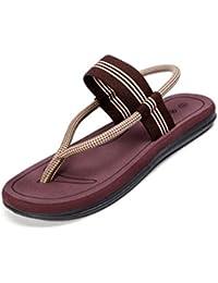 QIDI Sandales PVC Maille Résistant À L'usure Respirant Casual Noir Bleu Brown Chaussures De Plage Pantoufles (Couleur : Bleu, taille : EU40/UK7)