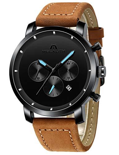 Herren Schwarz Uhren Männer Militär Wasserdicht Sport Groß Chronograph Armbanduhr Mann Mode Datum Kalender Analoge Quarz Uhr