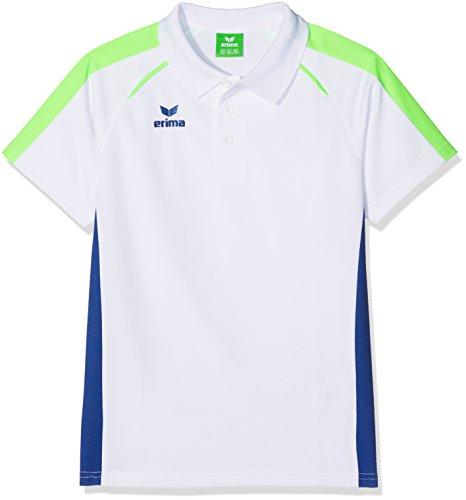 erima Jungen Masters Weiß Polo-Shirt, Weiß/Mazarine Blue, 164
