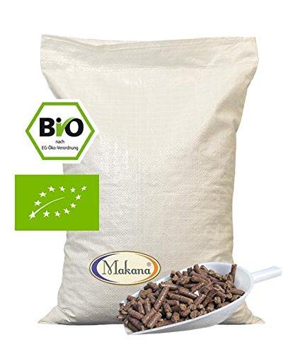 Makana Bio Leinkuchen Pellets (grobes Granulat) für Tiere, 1er Pack (1 x 10 kg) (Pferde Leinsamen Für)