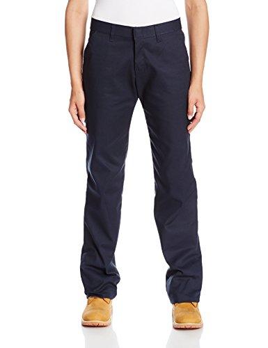 Dickies Littmann Workwear fp331dn Polyester/Baumwolle Casual Fit Damen Flache Front Twill Hose mit geradem Bein, dark navy, 4, dunkles marineblau, 1