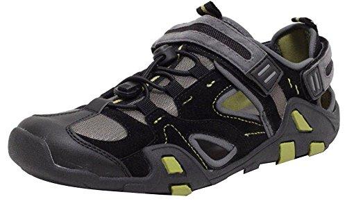 Herren Allterrain Sandalen Gr 44-45 Trekking Outdoor Sandaletten Freizeit Schuhe Schwarz