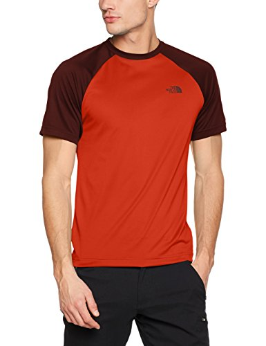 Expedition S/s Shirt (The North Face Herren Tanken Raglan-T-Shirt, Tibetan Orange, S)