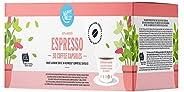 Amazon Brand- Happy Belly  Espresso Roast & Ground UTZ Coffee in Nespresso compatible compostable capsules, 30 capsules (3x1