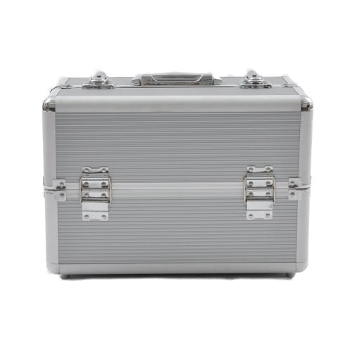 Beauty-Boxes San Remo Silver Cosmetics and Make-up Beauty Case