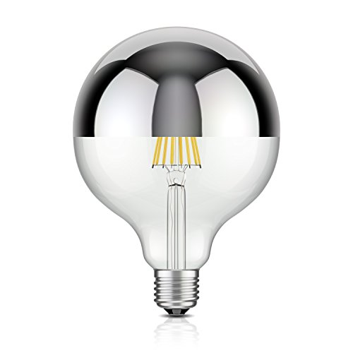 Lampe 27 (ledscom.de E27 Kopfspiegel LED Lampe Filament G125 (12,5cm Durchmesser) 8W =57W warm-weiß 750lm A++)