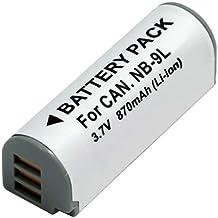 Amsahr Grade A de celdas de batería (870mAh, 3.5V) para Canon gris