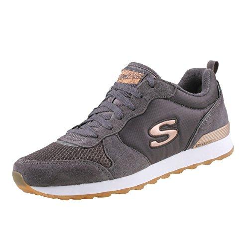 Damen-retro-sneaker (Skechers Damen Retros-og 85-goldn Gurl Sneaker, (Charcoal Suede/Nylon/Mesh/Rose Gold Trim Ccl, 7 EU)