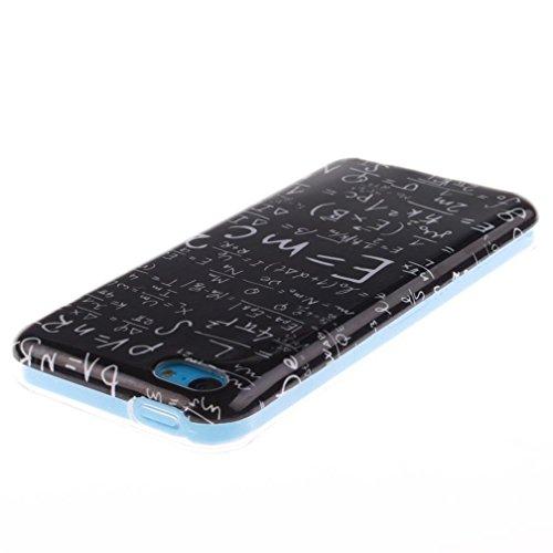 KATUMO®Handyetui für Apple iPhone 5C Tasche Silikon TPU Handyhülle iPhone 5C Hülle Crystal Cear Bumper Slim Back Case iPhone 5C SchutzSchale Weiß Tiger Mathematische Formel