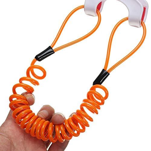 Goodplan Premium Qualität 150 cm Alarm Disc Sicherheitsschloss Anti Dieb Tasche Motorrad Rad Scheibenbremse Und Frühling Erinnerung Orange Kabel (Frühling Rad Roller)