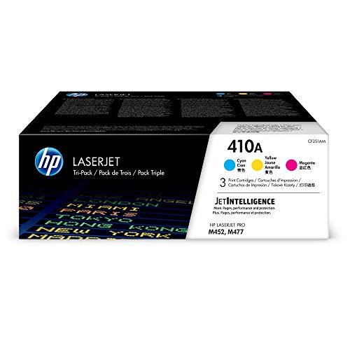 HP 410A - Cartucho de tóner original LaserJet para Laserjet series M452 y M477, color cian