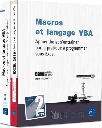 Macros et langage VBA - Coffret de 2 livres : Apprendre et s'entraîner par la pratique à programmer sous Excel par Pierre RIGOLLET Frédéric LE GUEN