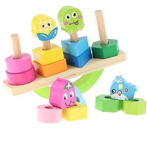 KESOTO Lustig Balancier Spielzeug mit Stapelspiel Funktion für frühe Intelligenztraining der Kindern