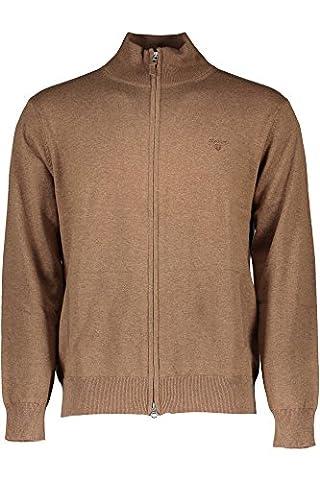 Gant Herren Cardigan Jacke Uni & Uninah, Größe: XL, Farbe: Braun