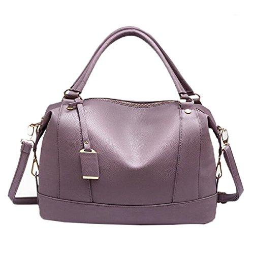 WU Zhi Dame PU-Sommer-Fall-Schulter-Kurier-Beutel-große Kapazitäts-Handtasche Purple