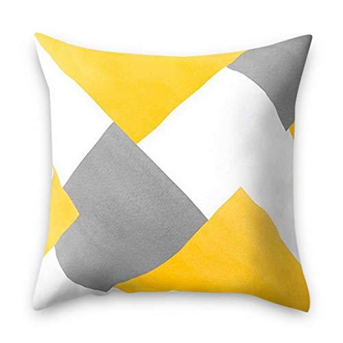 WWVAVA Gelb gestreifte Kissenbezug geometrische Wurfkissen Kissenbezug Druckkissen Kissenbezug Schlafzimmer Office-in Kissen, 2 -