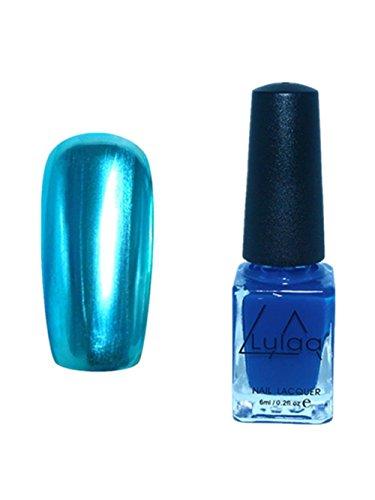 Nagellack, HARRYSTORE Spiegeleffekt Metall Mehrfarbenfarbe Cool Nail Art (Blau) (Baby Flaschen Unter $2)