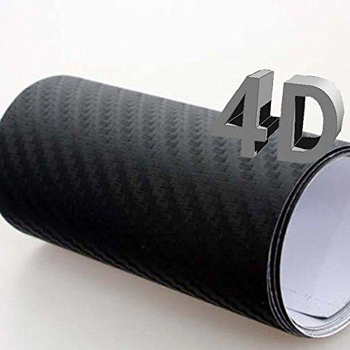 Mintice™ KFZ LKW Schwarz 4D Carbon Folie 50cm x 152cm flexibel Wrapping Folie Wickeln