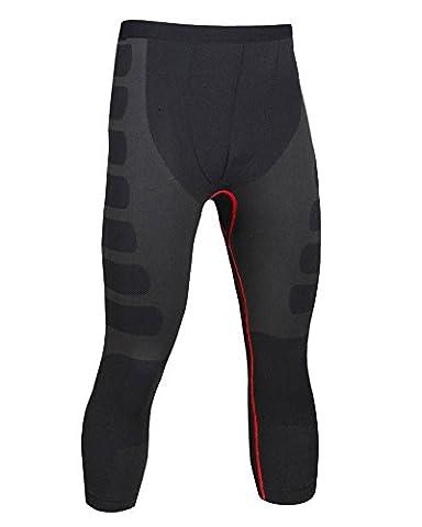 Sport Homme Compression Tight Pants Couche De Base De Fitness 3/4 Leggings