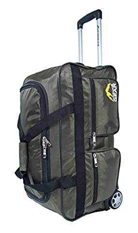 Outdoor Gear Ballistic Nylon Lightweight Luggage Wheeled Holdall Travel Trolley Suitcase Holiday Weekend Bag - Medium 24