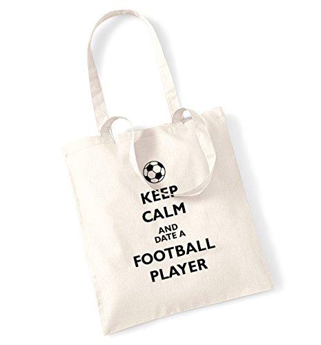 Keep calm and data a football player, Borsa natur