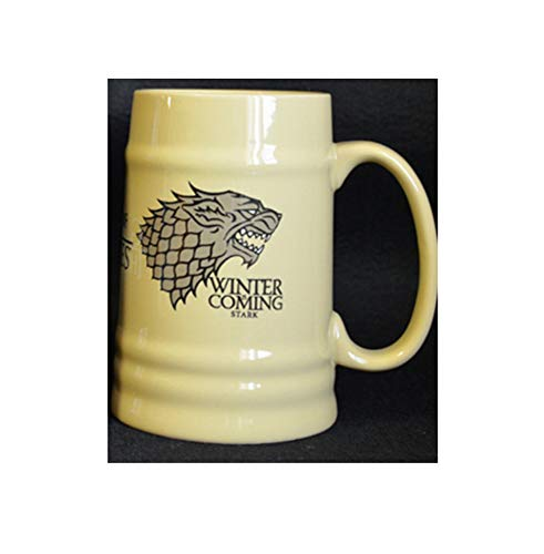 PORCN beer mugs Ceramic Stark Beer Stein Cup of coffee Cup of Thrones game Winter is approaching Stark Fire Blood, A