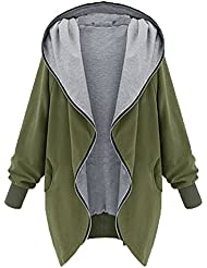 Moin nuevo invierno de las mujeres abrigo de manga larga con cremallera irregular chaqueta otono
