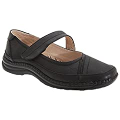 9196c7aaafb5 Boulevard Womens Ladies Extra Wide EEE Fitting Mary Jane Shoes
