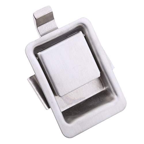 Unbekannt Edelstahl Flush Pull Lock Mini Einbau Latch für RV/Camper/Anhänger/Wohnmobil Cabinet/Tool Box