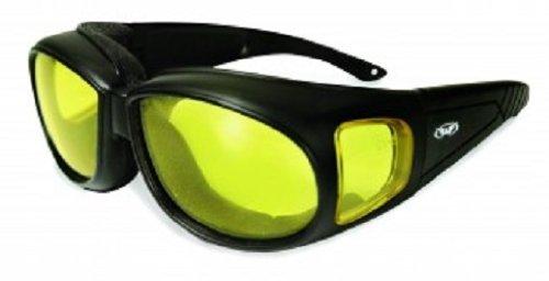 Preisvergleich Produktbild Global Vision Herren Sonnenbrille Black Frame/Yellow Lens Einheitsgröße