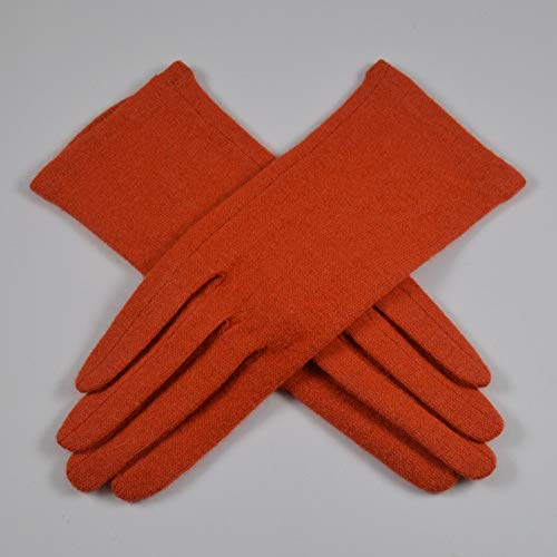 Rebily Volle Finger-Handschuhe Finger-Handschuh Herbst und Winter Einzel-Dünnschicht-Abschnitt Befreien Handschuhe Touch Screen Frauen Casual warme Handschuhe One Size (Color : Orange red)