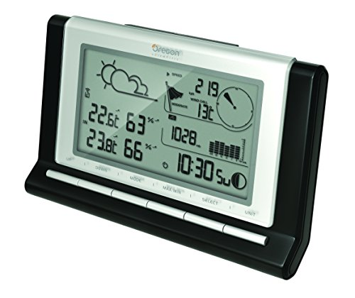 Oregon Scientific WMR89 Stazione Meteo Professionale con Data Logger 7 Giorni, Plastica,...
