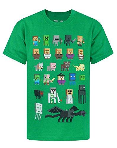 Unbekannt Minecraft Sprites Boys Green T-Shirt (11-12 years)