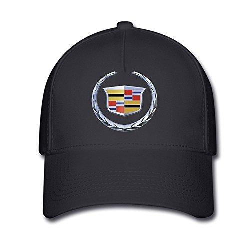 hittings Unisex Cadillac Logo Baseball Cap Hat One Size Black