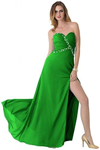 Sunvary romantico, decorazioni A sera sera, abiti e corsetto imbottito decorato con strisce di tessuto pieghettato Verdone