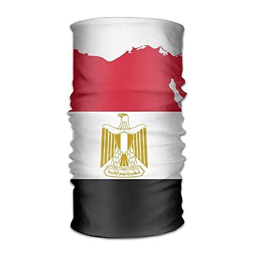 Rghkjlp Headband Bandanas Flag Map of Egypt Versatile Daily Magic Scarf Neck Gaiter Balaclava Helmet Liner Riding Face Mask for Kids Women Men Outdoors UV Protection Design10
