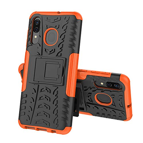 COVO® Samsung Galaxy A40 Hülle Hybrid Armor Schutzhülle Anti Wrestling Travel Essential Faltbare Halterung Schutzabdeckung hüllen für Samsung Galaxy A40(Orange)